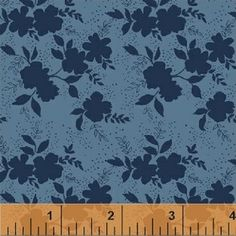 Another Point of View - Sweet Florals - Shadow Flower in Navy