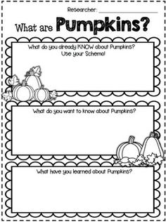 FREE Printable PUMPKIN ACTIVTIES for Math and Writing