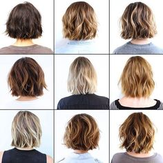 Layered bobs -- bottom left corner is really nice, especially with the high collar