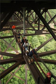 New River Gorge Bridge, Cat-walk.. . .Fayetteville, West Virginia
