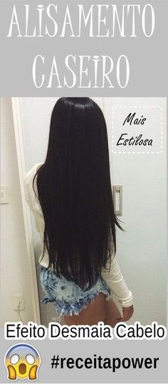 ALISAMENTO CASEIRO TOTALMENTE NATURAL! Reduz o volume e alinha os fios!  #alisamentonatural #alisamentocaseiro #progressivacaseira #receitacaseira #dicas #dicasdecabelo  #natural  #natureba #dicasdebeleza  #diy #facavocemesma #beauty #hair #homemade My Beauty, Beauty Hacks, Hair Beauty, Hair And Makeup Tips, Hair And Nails, Organic Hair Care, Dream Hair, How To Make Hair, Hair Journey