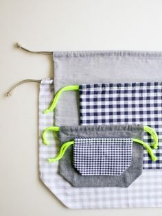 A Drawstring Bag from the Purl Bee {on Martha Stewart - the crafts dept. blog}