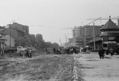 Piata 1 Mai 08.06.1977 © Serban Lacriteanu 1. Mai, Socialism, Locomotive, Street View, Memories, Profile, Memoirs, Souvenirs, Locs