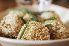Brown rice balls recipe, Bite – These brown rice balls are a nutritious snack to have on hand and are great for school lunch boxes providing a sustained release of energyampnbsp - Eat Well (formerly Bite) Nutritious Snacks, Savory Snacks, Vegan Snacks, Healthy Snacks, Vegan Food, Vegan Meals, Delicious Vegan Recipes, Real Food Recipes, Vegetarian Recipes