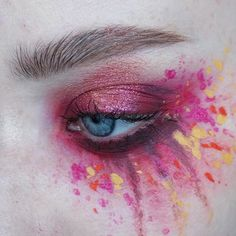 WEBSTA @ thesaraengel - This look was inspired by Cherry's makeup in the Eros and Apollo music video from @studio_killers - thank you @joshjmorin for the idea, now I wanna do a whole bunch of her looks!  | @viseart Editorial Brights palette   @urbandecaycosmetics Moondust palette (element), smudges are aqua bodypaints from #epiceffect | Brows: @anastasiabeverlyhills clear brow gel   @narsissist Bellissima duo | #mua #makeupartist #artist #eyes #blueeyes #freckles #skin #mine #mywork #eye...