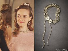 """In the episode 2x13 (""""Sins of the Past"""") Princess Claude wears this sold out Paris by Debra Moreland Cloudburst Necklace.Worn with Edera Jewelry earrings."""