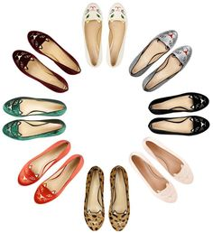 Charlotte Olympias Kitty flats - I want one in every colour!!!