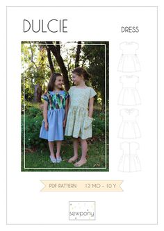 Free Girl's Dress Sewing Pattern - the Dulcie from SewPony. What a cute summer dress with dolman sleeves! Childrens Sewing Patterns, Sewing Patterns Free, Clothing Patterns, Free Pattern, Free Sewing, Sewing Box, Sewing Tutorials, Sewing Ideas, Sewing Projects