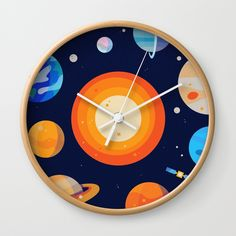 Buy Planets Series Poster Wall Clock by haffraff. Worldwide shipping available at Society6.com. Just one of millions of high quality products available.