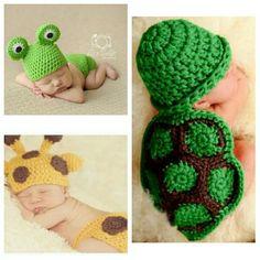 Conjuntos Para Bebe Tejidos A Crochet De Animalitos Gorritos - Bs .. d1ea8fd0668