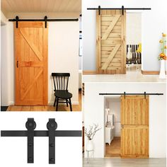 Femor 6FT 183cm Sliding Door Hardware Sliding Door Accessory Kit Metal Parts Set Sliding Door Track 183 * 4 * 0.6cm: Amazon.co.uk: DIY & Tools Wooden Sliding Doors, Sliding Door Hardware, Home Hardware, Cupboard Doors Makeover, Door Makeover, Barn Door Track System, Cheap Doors, Door Fittings, Door Molding