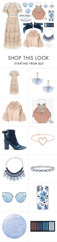 """""""Summer Florals & Winter Blues"""" by dlmusiel ❤ liked on Polyvore featuring Needle & Thread, Shashi, BLANCHA, Okhtein, self-portrait, Love Is, Miadora, Matthew Williamson, Casetify and Clé de Peau Beauté"""