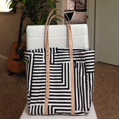 """⚡️Sale⚡️Host PickKate Spade Saturday Tote Strap Drop 10"""" Depth 13"""" Width 18"""" Length 12 1/2"""". With 2 side pockets! Bought for myself, tag is removed but kept. ❗️see pic 2 for uneven color of the end strap at the back. kate spade Bags Totes"""