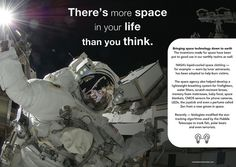 There is more space in your life than you think - Poster from the book 'Not Invented Here: cross-industry innovation' Not Invented Here, Think Poster, Space Outfit, Your Life, Nasa, The Book, Inventions, Thinking Of You, Innovation