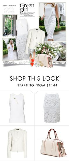 """Spring : The Music Of Open Windows"" by thewondersoffashion ❤ liked on Polyvore featuring Thierry Mugler, Green Girls, Ermanno Scervino, Balmain, Elena Ghisellini, Gianvito Rossi, BloggerStyle, balmain, GianvitoRossi and memorandum"