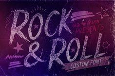 Rocknroll Font by Cruzine on Creative Market