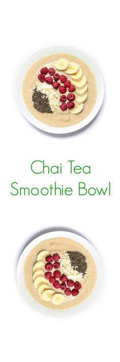 Chai Tea Smoothie Bowl Recipe - A fun twist on a classic drink, in the form of a delicious, easy and healthy breakfast! - The Lemon Bowl