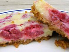 Creamy Lemon Raspberry Bars