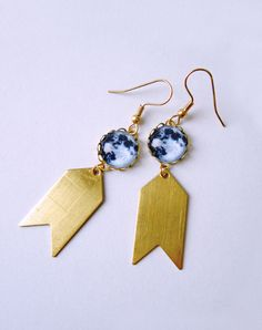 Shoot For The Moon Earrings — Eclectic Eccentricity Vintage Jewellery
