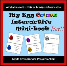 My Egg Colors Printable Book from Preschool Powol Packets and B-InspiredMama.com