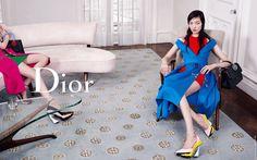 Dior Features Fei Fei Sun for Fall 2014 Campaign Dior 2014 Fall, Fall Winter 2014, Autumn, Balmain, Christian Dior, Merry Widow, Back To School Fashion, Lady In Waiting, Campaign Fashion