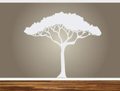African Safari Tree Wall Decal Nursery Baby Kids Living Room Home Decor Art Sticker Removable Branches. $66.50, via Etsy.