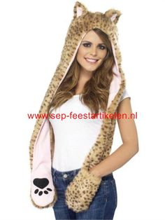 Leopard muts/sjaal direct leverbaar! - SEP Feestartikelen