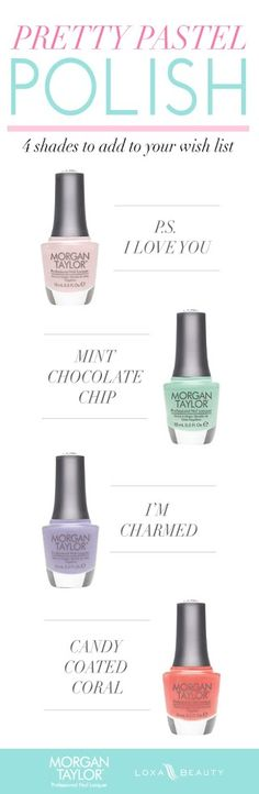 Must-have pastel nail colors