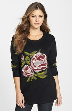Max & Mia Floral Sweatshirt available at #Nordstrom