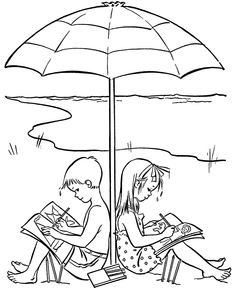 [Coloring Pages] summer season pictures for kids drawing