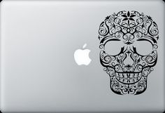 Maxican sugar Skull Ipad laptop macbook  car rear by ALLSTICKERS, $6.49