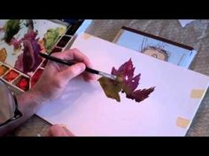 How To Paint a Watercolor Pt1 - Beginner Lesson; painting a leaf