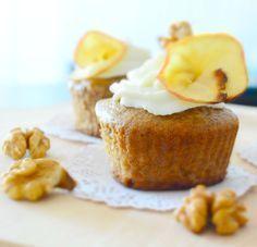 Postres Saludables | Cupcakes de manzana sin azúcar | http://www.postressaludables.com