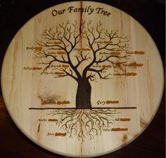 25 Ideas For Wood Burning Family Tree Ideas Wood Burning Crafts, Wood Burning Patterns, Wood Burning Art, Wood Crafts, Make A Family Tree, Family Gifts, Modern Tree House, Wood Tree, Wood Wall Decor