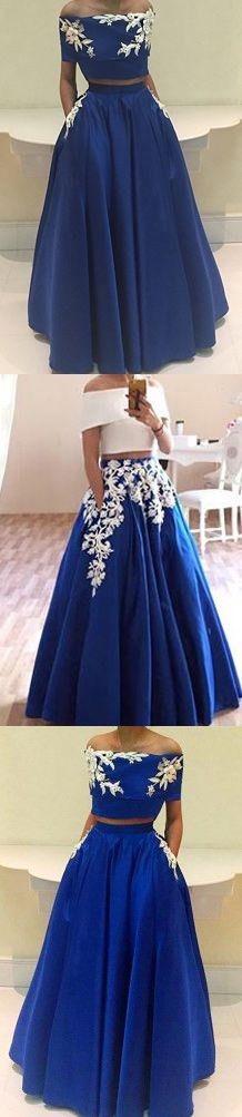 Royal Blue Off Shoulder Prom Dress,Two Piece Prom Dresses,Long Evening Dress,Sexy Prom Dresses,Long Formal Dress,Cheap Prom Dresses,Long Graduation Dresses M0453#prom #promdress #promdresses #longpromdress #promgowns #promgown #2018style #newfashion #newstyles #2018newprom#eveninggowns#royalblueprom#offshoulderprom#twopiecepromdress#graduationdress