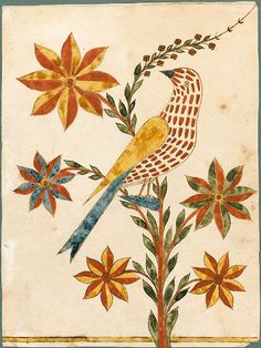 Attributed to The Rockhill Township Artist I Bucks County, Pennsylvania I Early 19th century I Fraktur I Watercolor and ink on paper