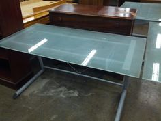 Glass Work Tables – Great for your home or office - $30/each