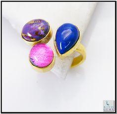Multi Red Onyx Gem Stone 18-Kt Y Gold Plating Toe Ring Sz 8 Gprmul8-5312 http://www.riyogems.com