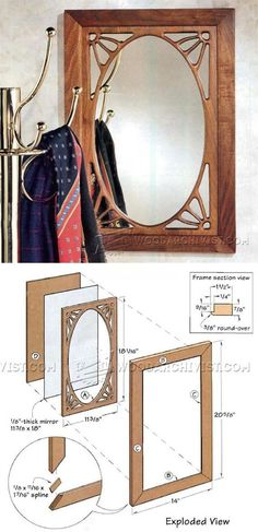 Art Nouveau Mirror Plans - Woodworking Plans and Projects | WoodArchivist.com