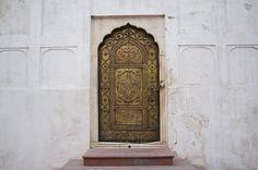 Metal door, chandni chowk india.