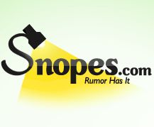 ♥♥♥ Snopes: Urban Legend Reference Page
