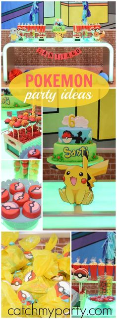 How fun is this Pokemon birthday party! See more party ideas at Catchmyparty.com!