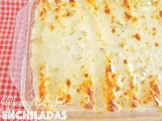 Swiss Enchiladas The Country Cook - Swiss Enchiladas are cream-based! Corn tortillas stuffed with a creamy chicken mixture and topped a cream sauce and even more cheese! White Sauce Enchiladas, Cheesy Chicken Enchiladas, Shrimp Enchiladas, Mexican Dishes, Mexican Food Recipes, Mexican Meals, Adobo Seasoning, Enchilada Recipes, Enchilada Soup