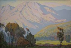 Mountain Scene - Landscape With Mountains - Fred Grayson Sayre – Mountain Landscape, Landscape Paintings, Scene, Sky, Explore, Mountains, American, Gallery, Artist