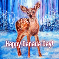 Happy Canada Day! 🇨🇦 💜 🖼 First Winter by @annmariebone Available on our website in our 'Discontinued' collection. Happy Canada Day, Diamond Paint, Baby Deer, Diamond Shapes, The Dreamers, Cute Babies, Moose Art, Abs, Community