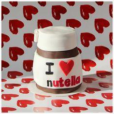 Nutella Cake Nutella Cake, Mini Cakes, Drink Sleeves, Drinks, Tableware, Drinking, Beverages, Dinnerware, Dishes