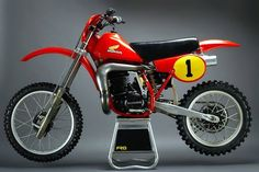 "HONDA CR 480 R Graham Noyce 1980 ""The Big Red One"""
