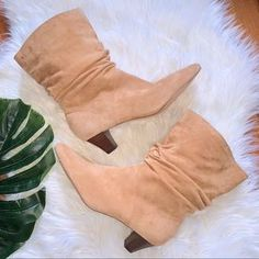 Splendid Shoes | New Splendid Nica Tan Suede Booties | Poshmark Shoes Heels Boots, Heeled Boots, Splendid Shoes, Suede Booties, Low Heels, Suede Leather, At Least, Booty, Blossoms