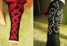 Corset Style Cast with Bling