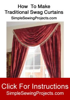 Awesome How To Make Traditional Swag Curtains